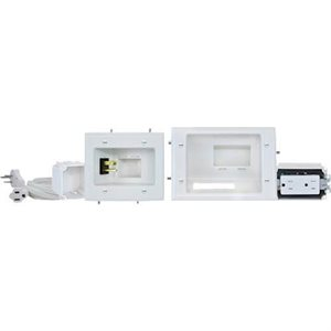 DataComm Recessed Pro-Power Kit with Duplex Receptacle