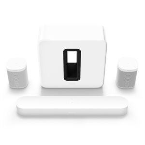 Sonos 5.1 HT Set w / 2 One SL's, BEAM and SUBG3US1 (white)