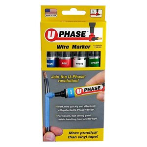 Rack-A-Tiers U Phase Marker (blue, red, white and green)