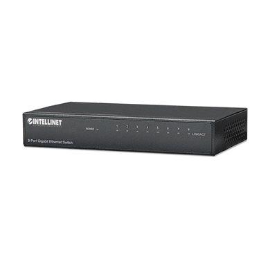 Intellinet 8-Port Desktop Gigabit Ethernet Switch, Metal