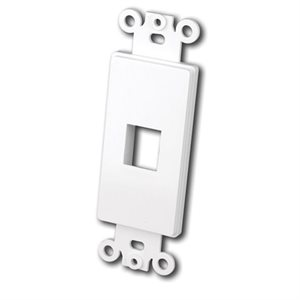 Vanco Decor Style Multi-Media Wall Plate Inserts- 1 Port (White)