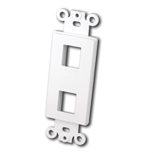 Vanco Decor Style Multi-Media Wall Plate Inserts- 2 Ports (White)