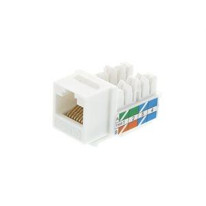 Vanco Cat 5E 90 Degree Keystone Inserts- 8 Conductor (White)