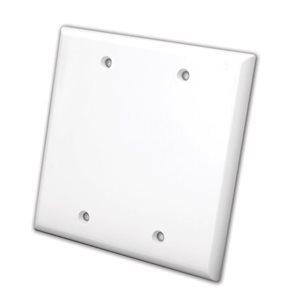 Vanco Blank Wall Plates- Dual (White)