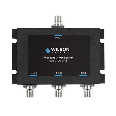 weBoost 3-Way 700-2500 MHz Splitter w / F-Female, 75 Ohm