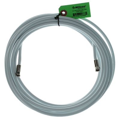 weBoost RG6 30' Cable with F-Male Connectors (white)