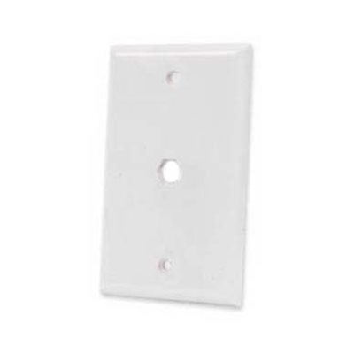ASKA Blank Wall Plate with Single Hole (white)