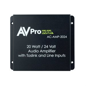 AVPro AC Digital  /  Analog Stereo Audio Amp 20W 24V Toslink