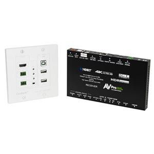 AVPRO Edge HDMI Wall Plate Extender Kit w /  KVM Control