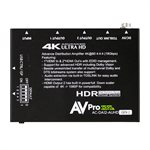 AVPro Edge 18Gbps Distribution Amp 1x2 w /  Scaler and Audio E