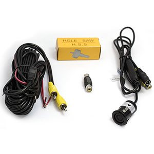 Audiovox Flush Mount Camera 18mm - Used for Front or Rear Camera with Dynamic Parking Lines