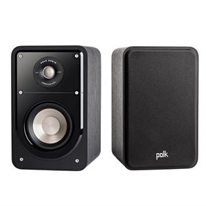 Polk S15 Small HiFi Bookshelf Speaker (black walnut - pair)