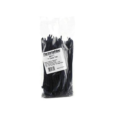 "Install Bay 7"" 50 lb Cable Ties (black, 100 pk)"