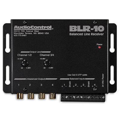 AudioControl 4 Channel Balanced Line Receiver