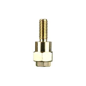 Install Bay Battery Side Post Adapter Long Brass (single)