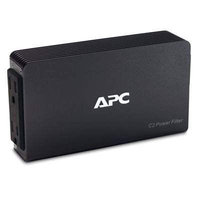 APC 2-Outlet 120V AV C-Type Wall Mount Power Filter