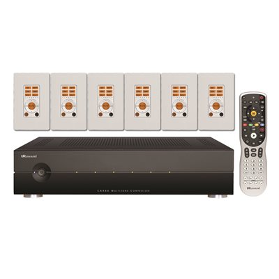 Russound 6-Zone Controller / Amplifier with Standard Keypads