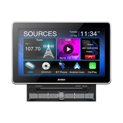 """Jensen 10.1"""" Capacitive TFT Touch Screen (1024x600), DVD Receiver, Built-in Bluetooth"""