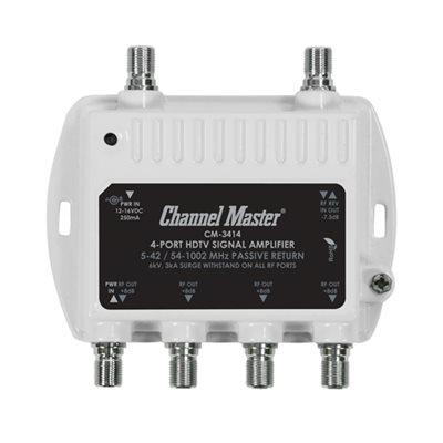 Channel Master 4-Way Dist Amp 8dB 50–1,000MHz w / Return Path