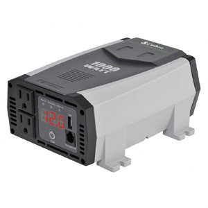 Cobra 1,000W Power Inverter with 2 Grounded AC Plugs