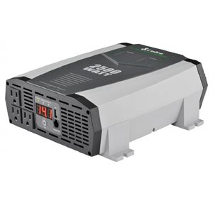 Cobra 2,500W Power Inverter with 3 Grounded AC Plugs