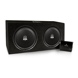 "Triton Audio Dual 12"" Bass Package w /  1000W Mono Amplifier"