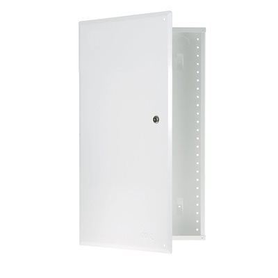 """On-Q 20"""" Metal Enclosure with Hinged Cover and Lock"""