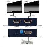Vanco HDMI 1x2 4K Splitter 4K / 60Hz HDR HDCP2.2 w /  Scaling