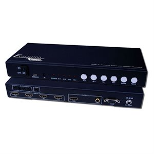 Vanco  1080p HDMI 4x1 Selector Switch w / Multi-View
