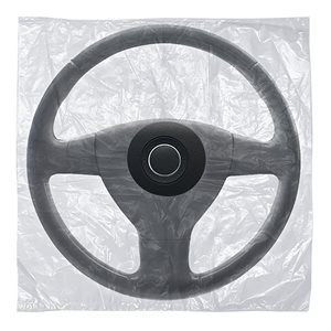 Slip-N-Grip Steering Wheel Cover - Bag Style w / hole, 500 per box