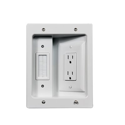 On-Q Flat Panel TV Connection Kit (white)
