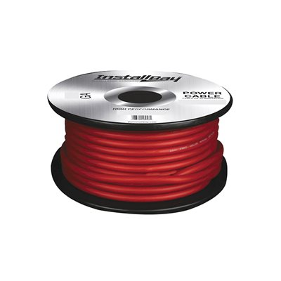 Install Bay 4 ga Power Cable 125' Spool (red)