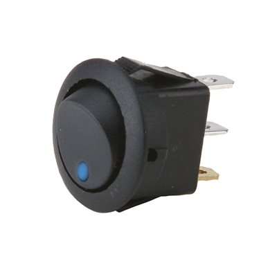 Install Bay Round Rocker Switch with Blue LED (5 pk)