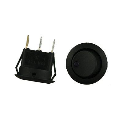 Install Bay Round Rocker Switch with Purple LED (5 pk)