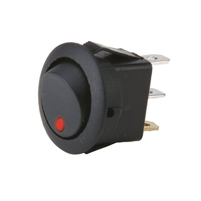 Install Bay Round Rocker Switch with Red LED (5 pk)