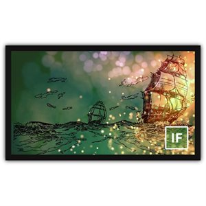 "Severtson 135"" 16:9 Impression Series Fixed Screen Stellar Acoustically Transparent 4k"