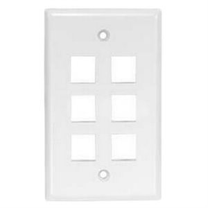 ASKA 6-Port Keystone Wall Plate