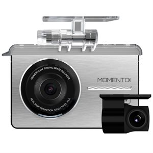Momento M4 Dual HD Dash Cam w / 16GB Memory Card