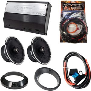 ARC Audio Motorcycle Coaxial Speaker Kit - Fits 1999-2013 HD Street Glide and Road Glide M