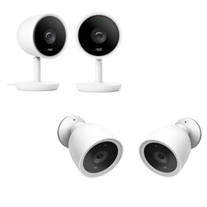 Nest Cam IQ Indoor & Outdoor Security Camera - 2X2 Pack (2 of each model-total 4)