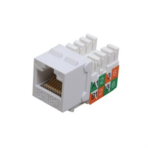 Quest Keystone Cat 5e RJ45 Slim-Style Jack (white)