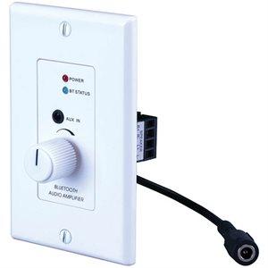 Vanco 2 Channel 24w Bluetooth 4.2 Amplifier Wall Plate White