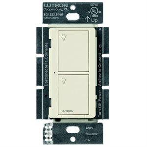 Lutron Caseta 5A 2-Button RF Switch (light almond)