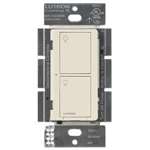 Lutron Caseta 6A 2-Button RF Switch (lt almond)