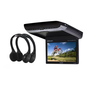 "Alpine 10.1"" HD Flip Down DVD Rear Seat w / 2 HDMI Inputs"