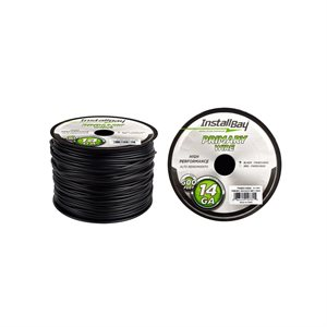 Install Bay 14 ga Primary Wire 500' Spool (black)
