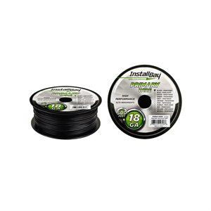 Install Bay 18 ga Primary Wire 500' Spool (black)