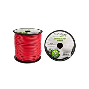 Install Bay 12 ga Primary Wire 500' Spool (red)