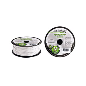 Install Bay 18 ga Primary Wire 500' Spool (white)
