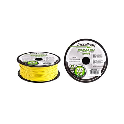 Install Bay 18 ga Primary Wire 500' Spool (yellow)